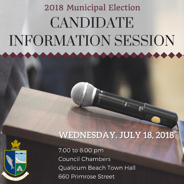 2018 Municipal Election - Candidate Information Session
