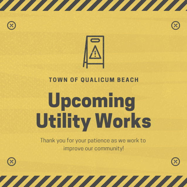 Utility Works on Harlech Road